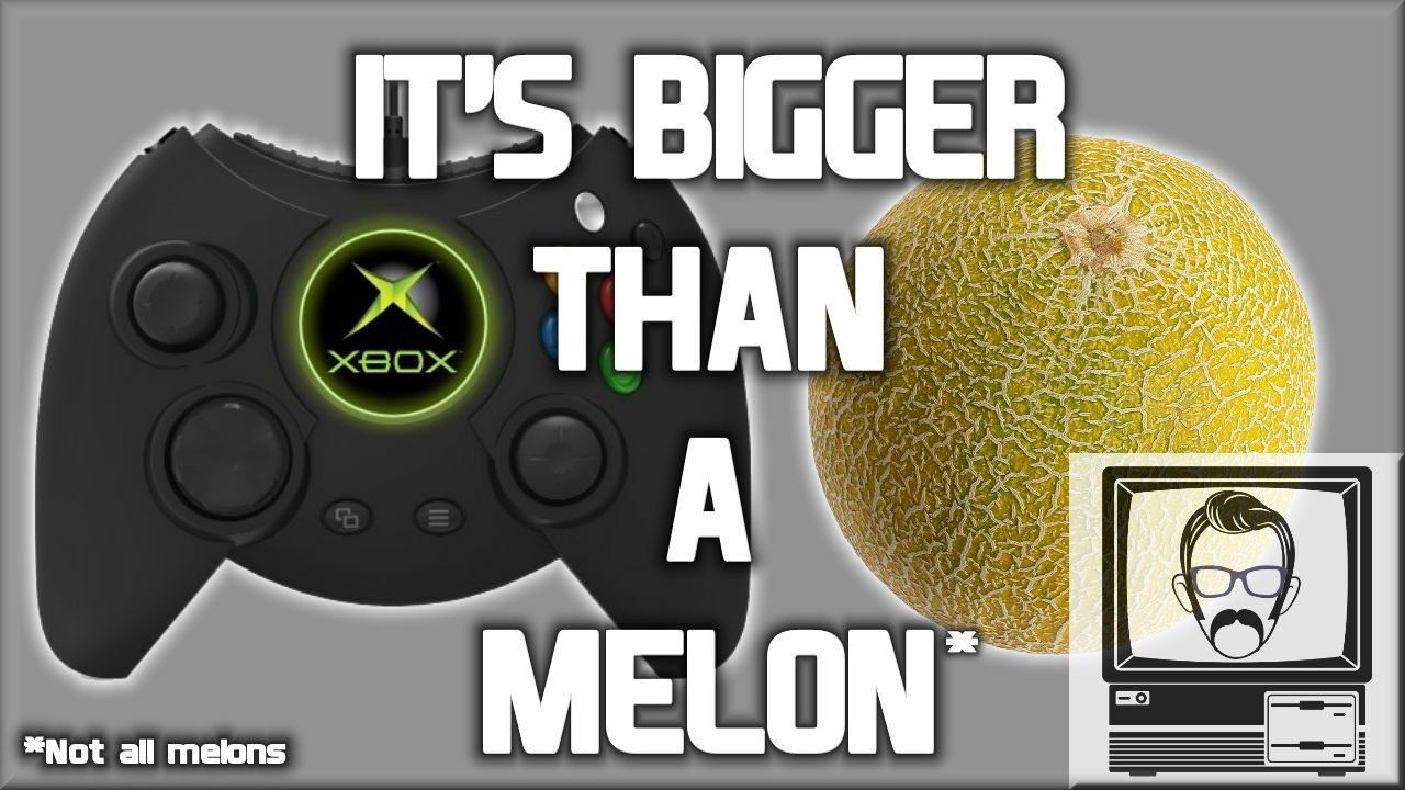 New Xbox Duke next to a small Watermelon (for size comparion)