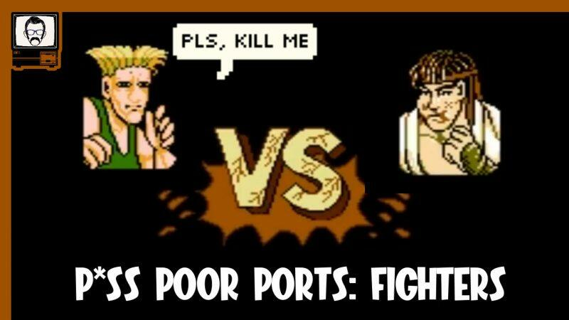 Piss Poor Ports: Fighters, showing Guile and Ryu in suspiciously low resolution and detail
